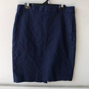 Navy Blue J. Crew Pencil Skirt